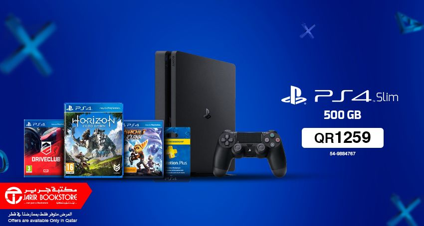 Now enjoy with latest Sony PlayStation 4 Consoles at Jarir Bookstore