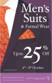 Up to 25% of mean's suits