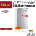 OSCAR refrigerator white colour 120ltr