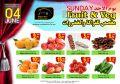 عروض مسكر قطر فقط الأحد - الفواكة والخضراوات