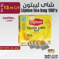 Lipton tea bag 100's