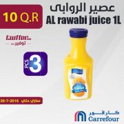AL rawabi juice 1L assorted