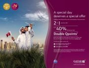 UP  TO 40% off Economy fares and double Qpoints