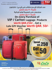 Gift voucher on purchase Vip Luggage