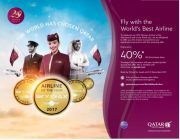 Fly with the  World's Best Airline. Save up to 40%