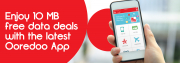 Enjoy 10 MB free data with Ooredoo