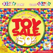 Sale up to 50% in kiddy Zone Stores