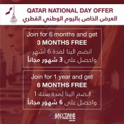 Anytime Fitness Qatar Offers