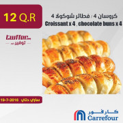Croissant x 4 , chocolate buns x 4