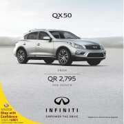 OWN THE INFINITI QX50 WITH ZERO DOWN PAYMENT