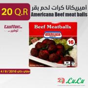أميريكانا كرات لحم بقر 400غرام×2حبة