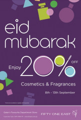 enjoy 20% off cosmetics