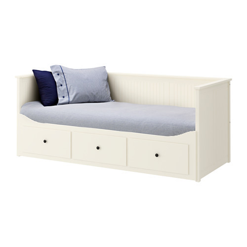 عرض ايكيا قطر على هيكل سرير نهاري مع 3 أدراج